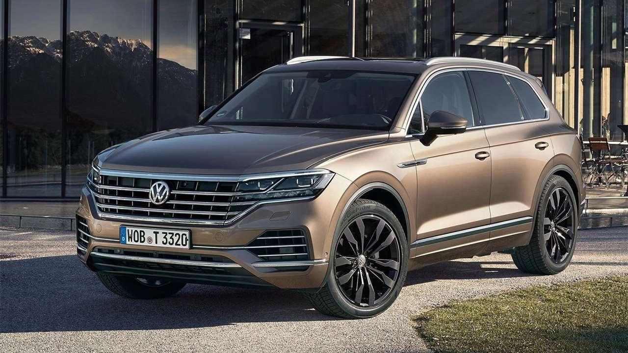 Volkswagen Touareg 2020-2021 фото спереди