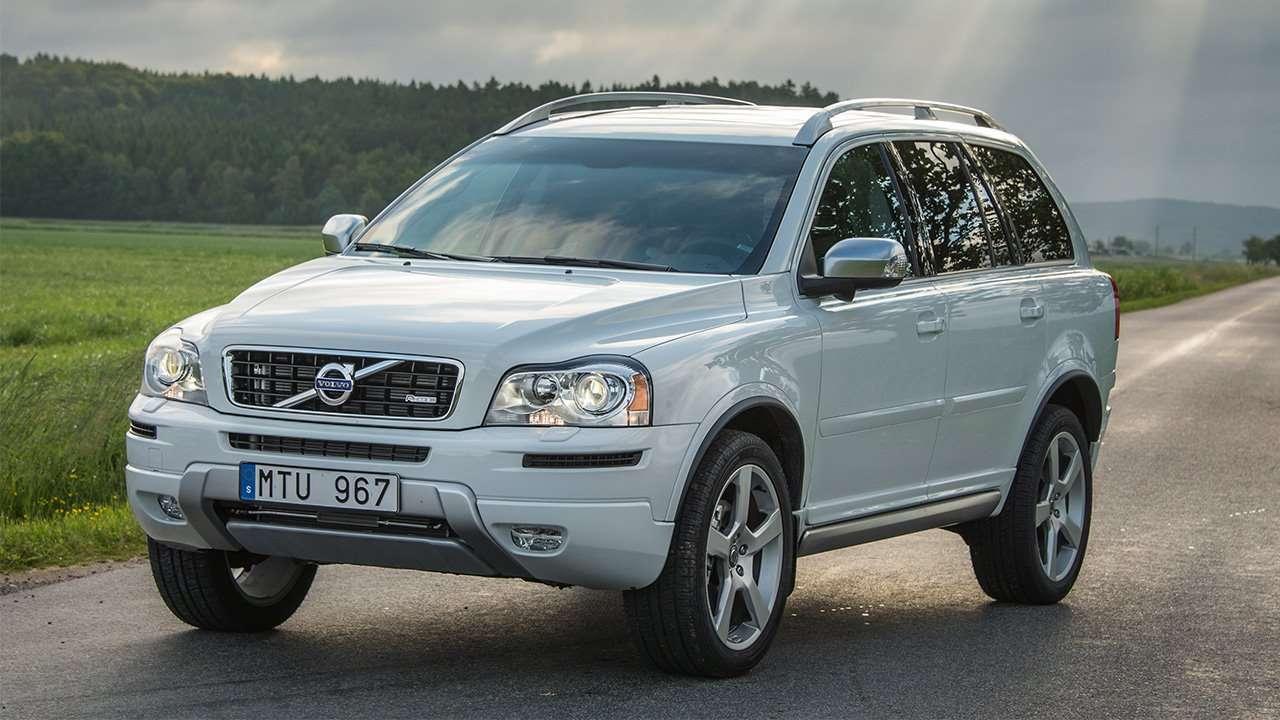 Фото белого Volvo XC90 P28