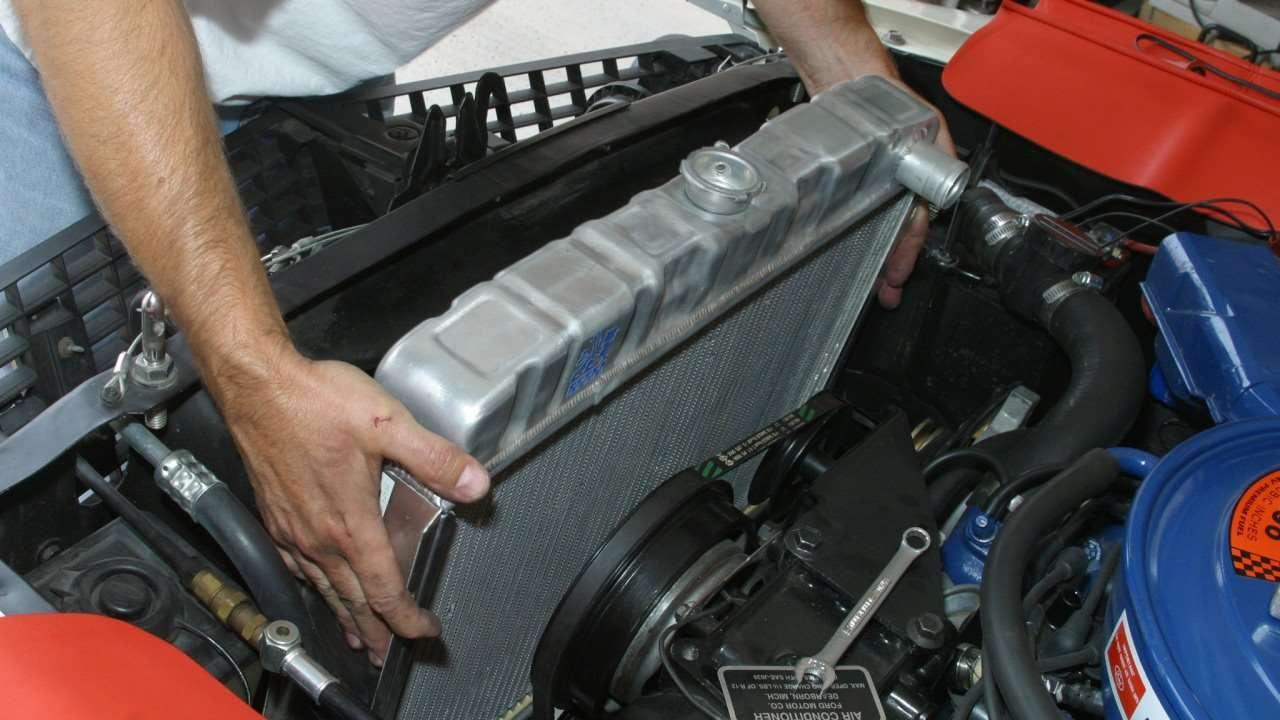 Установка радиатора кондиционера